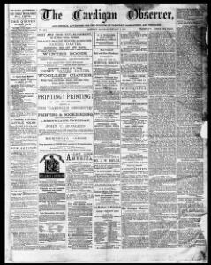 The Cardigan Observer and General Advertiser for the Counties of Cardigan Carmarthen and Pembroke