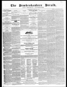 Advertising 1845-02-14 The Pembrokeshire Herald and General