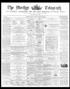 Advertising 1869 03 13 The Merthyr Telegraph and General