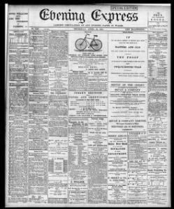 Advertising|1891-04-23|Evening Express - Papurau Newydd Cymru Arlein