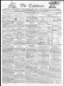 Advertising 1807-11-21 The Cambrian - Papurau Newydd Cymru