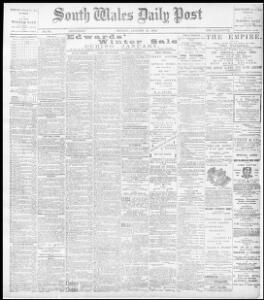 Advertising|1896-01-27|The South Wales Daily Post - Papurau