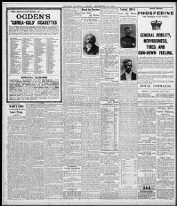 TO-DAY'S STORY |1901-09-10|Evening Express - Papurau Newydd