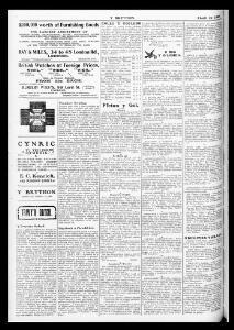 Advertising|1909-04-15|Ye Brython Cymreig - Papurau Newydd