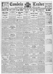 Advertising 1915-04-19 The Cambria Daily Leader - Papurau