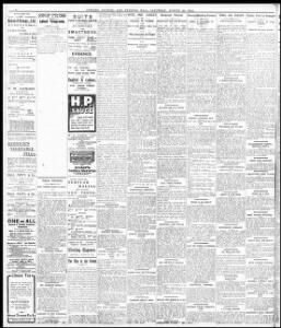 Advertising|1908-08-22|Evening Express - Papurau Newydd Cymru Arlein