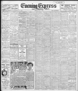 Advertising 1909-05-07 Evening Express - Papurau Newydd