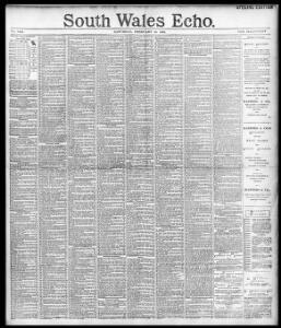 Advertising|1893-02-18|South Wales Echo - Papurau Newydd Cymru