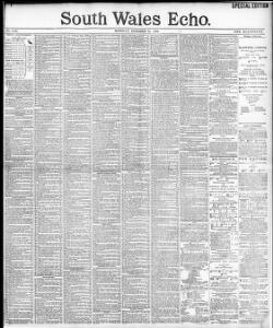 Advertising 1895-10-14 South Wales Echo - Papurau Newydd